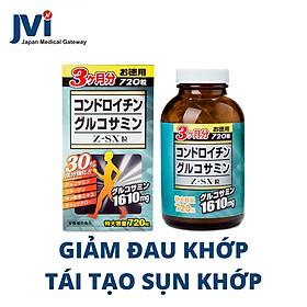 Viên uống Glucosamine Chondroitin Z-SX - Thực phẩm chức năng bổ xương khớp chính hãng Nhật Bản 720 viên 1610mg. Hỗ trợ giảm đau khớp và điều trị thoái hóa khớp