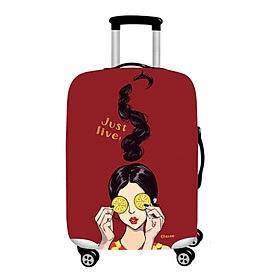 Cool Girl Travel Luggage Cover Protector Elastic Suitcase Bag Scratch-resistant # S
