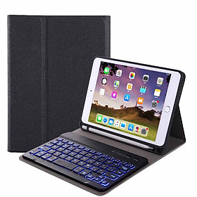 For iPad 10.2 Tablet Touch Keyboard Textured PU Leather Cover Wireless Bluetooth3.0 Connect Overall Protection Stand Function Specification
