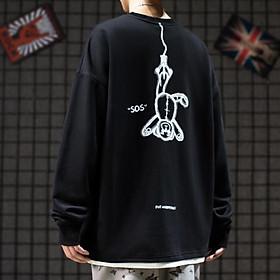 Áo Sweater Nỉ Bông Gấu Ngược ( unisex nam nữ đều mặc được)