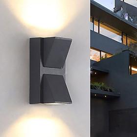 Đèn gắn tường ngoài trời hiện đại hình cái nơ hắt hai đầu.