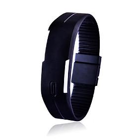 Đồng hồ LED dây nhựa kiêm vòng tay