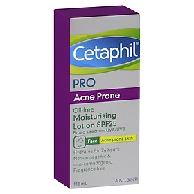 Cetaphil Pro Acne Prone Oil Free Facial Moisturising Lotion SPF 25 118ml