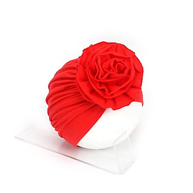 Nón thun turban kết hoa cho bé gái