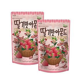 Combo 2 gói Hạnh nhân vị dâu tây Hàn Quốc Tomsfarm Strawberry Almond 210g 2ea