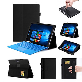 For Microsoft THE NEW surface pro 2017/pro5/pro4/pro3 12.3 inch Matte Litchi Pattern PU Protective Case with Hand Support Pen Slot Card Position