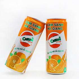 Cam Sành Hà Giang Cassan Lon (thùng 24 Lon) 330ml nguyên chất tươi ngon, bổ sung vitamin A, E, C, thanh mát giải nhiệt tự nhiên hoàn toàn ko có chất bảo quản.