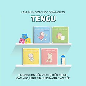 Combo 4 cuốn truyện tranh Ehon Nhật Bản - Làm quen với cuộc sống cùng Tengu (Mình sáu tháng tuổi, Mình một tuổi rồi đấy, Tengu một tuổi rưỡi, Xin chào tuổi lên hai) - Dành cho trẻ từ 0 - 2 tuổi