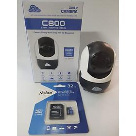 Camera Vitacam C800 2MP + thẻ 32GB Bản Chuẩn - Chính hãng