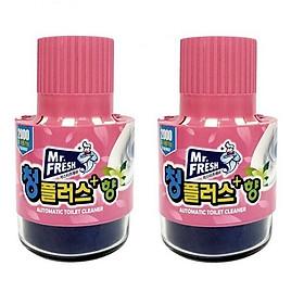 Combo 2 chai tẩy diệt khuẩn bồn cầu, toilet hương hoa ly Mr.Fresh Korea 180g