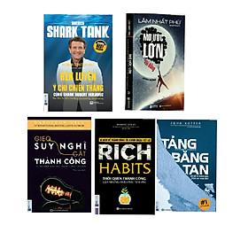 """Combo 5 cuốn sách """" thay đổi thành công trong mọi hoàn cảnh"""" rèn luyện ý chí chiến thắng+mơ ước lớn+ gieo suy nghĩ gặt thành công+rich habits+ tảng băng tan ( tặng kèm bút bi)"""