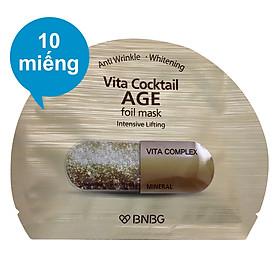 Combo 10 Miếng Mặt Nạ Banobagi Vita Cocktail Age Foil (30ml / Miếng)