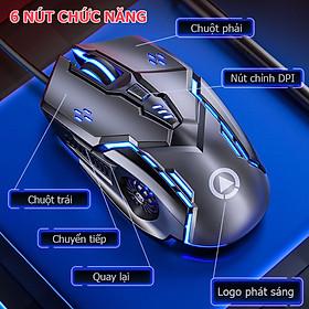 Chuột máy tính có dây G5 ES, chuột gaming DPI 4 cấp độ, hiệu ứng đèn nền 7 màu- Hàng nhập khẩu