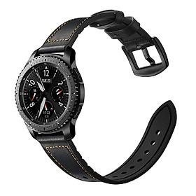 Dây da Hybrid cho Galaxy Watch 46, Gear S3, Huawei GT Size 22mm