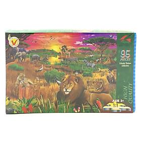 Tranh Xếp Hình EVA 35 Mảnh - Hoàng Hôn Safari 35-012