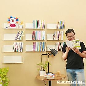 Bộ 10 Kệ Sách Treo Tường Chữ U - Bằng Thép Sơn Tĩnh Điện Hiện Đại Tiết Tiệm Không Gian Lưu Trữ Sách Cho Căn Hộ Nhỏ