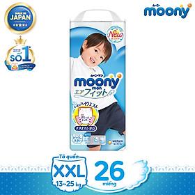 [Mã mới] Tã quần cao cấp Moony dành cho bé trai L44/XL38/XXL26