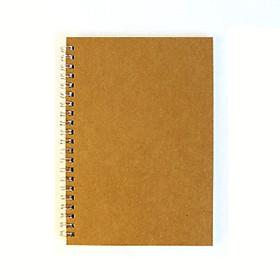 Sổ kế hoạch bìa giấy kraft nâu A5 72 trang 14x21cm - Ngày