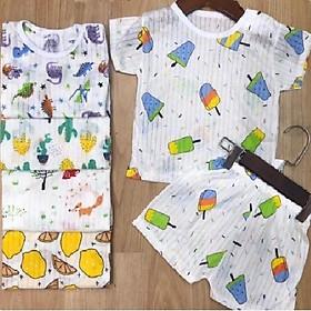 Combo 5 Bộ quần áo trẻ em cotton thông hơi dành cho bé trai và bé gái