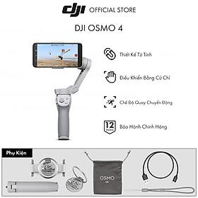 Tay Cầm Gimbal Chống Rung Điện Thoại DJI Osmo Mobile  4  - Hàng Chính Hãng - Bảo Hành 12 Tháng 1 Đổi 1