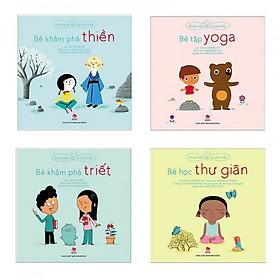 Combo sách khỏe thể chất và tinh thần bổ ích : Bé khám phá thiền + Bé tập yoga + Bé khám phá Triết + Bé học thư giãn - Tặng kèm bookmark