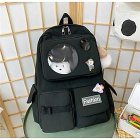 Balo nam nữ đi học chống thấm túi trong suốt giá rẻ (kèm sticker) BAG U TRO265