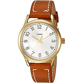 Timex Women's New England Leather Strap Watch