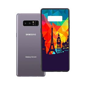 Ốp lưng viền TPU cho Samsung Galaxy Note 8 - Travelling