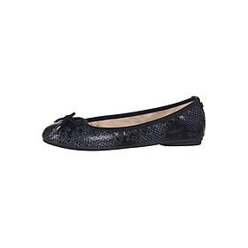Giày Búp Bê Đế Bệt FRANCESCA BLACK SNAKE Butterfly Twists BT24-001-201 - Đen
