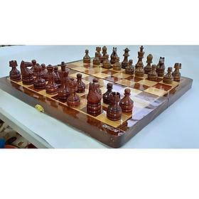 Bộ bàn cờ vua cao cấp -Gỗ hương-gỗ gụ