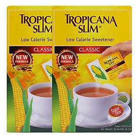 Combo 2 Hộp Đường Ăn Kiêng Tropicana Slim Low Calorie Sweetener Classic (50  x 2g)