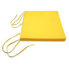 Nệm Ngồi Soft Decor 45035 Cadmium Lemon Canvas Square Seat Pad (45 x 45 x 3.5 cm) - Vàng