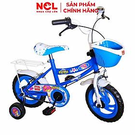 Xe đạp trẻ em Nhựa Chợ Lớn 14 inch K107 - M1823-X2B, Sườn xe bằng sắt chịu lực, Nhựa chính phẩm an toàn, Sản xuất tại Việt Nam - Hàng chính hãng, Giao màu ngẫu nhiên