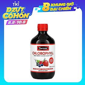 Nước diệp lục hỗ trợ thanh lọc, thải độc cơ thể Swisse Chlorophyll Mixed Berry Flavour Liquid (500ml) - Nhập khẩu Australia