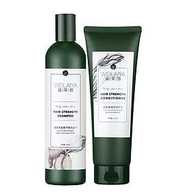 Dầu gội cặp Weilaiya thảo dược tinh chất gừng mọc tóc trị gàu-0