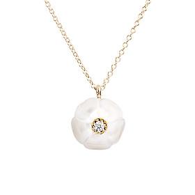 Dây Chuyền Galatea Jewelry Momento Talking Pearl MO-39YW - Trắng