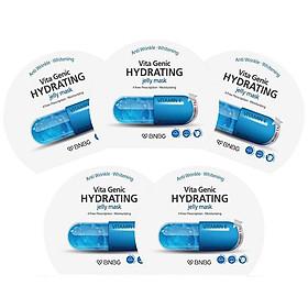 Combo 5 Mặt nạ giấy cấp nước dưỡng ẩm da mềm mượt, căng bóng BNBG Vita Genic Hydrating Jelly Mask (Vitamin E) 30ml x 5