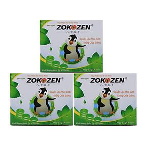 Combo 3 hộp Thực phẩm bảo vệ sức khỏe giảm ho Viên Ngậm Zokozen (Hộp 5 Vỉ/4 Viên)