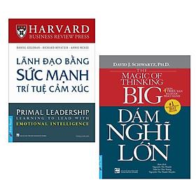 Combo 2 Cuốn Sách Kỹ Năng Làm Việc: Lãnh Đạo Bằng Sức Mạnh Trí Tuệ Cảm Xúc + Dám Nghĩ Lớn (Tái Bản 2019) / Bộ Những Cuốn Sách Kỹ Năng Hay Nhất - Tặng Kèm Bookmark Happy Life