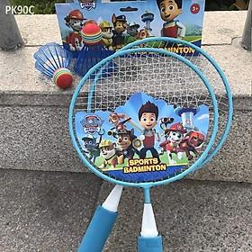 Bộ 2 vợt cầu lông cho bé tập đánh cầu (giao hình ngẫu nhiên) + 2 quả cầu
