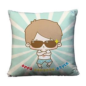 Gối Ôm Vuông Cậu Bé Gangnam Style GVCP045 (36 x 36 cm)