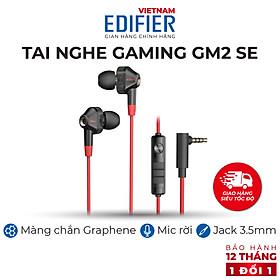 Tai nghe nhét tai gaming EDIFIER GM2 SE Micro chống ồn Âm thanh sống động - Hàng chính hãng