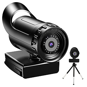 USB Webcam HD Web Camera Auto Focus Streaming Webcam 120°View Computer Camera Plug And Play for Online Calling Online Teaching Conferencing
