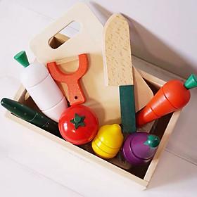 Đồ chơi cắt trái cây bằng gỗ dễ thương cho bé