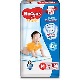 Tã Quần Huggies Dry Gói Đại M54 (54 Miếng)