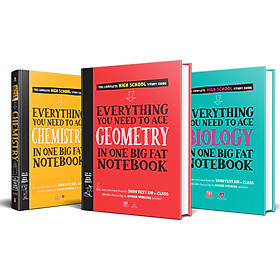 Sách - Everything you need to ace Geometry, Chemistry,Biology - sổ tay hóa học, hình học, sinh học - Á Châu Books ( bộ 3 cuốn )