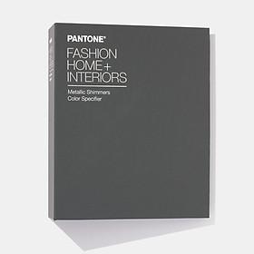 Bộ 1 cuốn bảng màu Pantone TPM Fashion Home Interiors Metallics Shimmer FHIP410N - Phiên bản 2020- 200 màu TPM dạng 1 màu 42 miếng / 1 trang xé được trong 1 cuốn Pantone để bàn chính hãng PANTONE LLC dành cho ngành thời trang