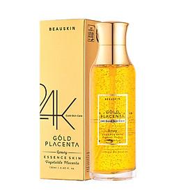 Nước hoa hồng dưỡng ẩm se khít lỗ chân lông sáng da Beauskin Luxury 24K Gold Placenta Essence Skin 130ml