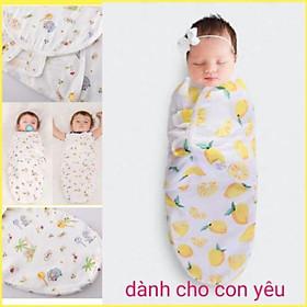 Khăn quấn, ủ kén cho bé 100% vải cotton cực mềm mát và thoáng khí cho bé