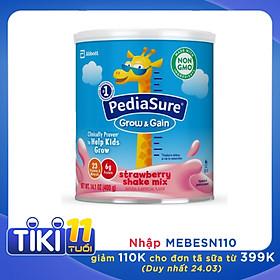 Sữa bột Pediasure Grow and Gain Strawberry Shake Mix 400gr nhập Mỹ - Mẫu mới